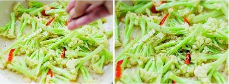 干煸菜花的做法步骤6-7