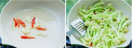 干煸菜花的做法步骤4-5
