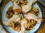 香菇蒸鸡腿的做法步骤7
