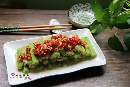 剁椒香干蒸丝瓜的做法