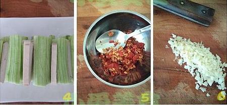 剁椒香干蒸丝瓜的做法步骤4-6