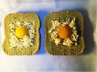 #儿童早餐#鸡蛋芝士烤吐司的做法步骤6