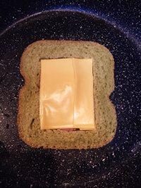 #儿童早餐#鸡蛋火腿吐司片的做法步骤8