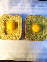 #儿童早餐#鸡蛋芝士烤吐司的做法步骤5