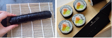 三文鱼寿司步骤7-8