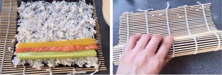 三文鱼寿司步骤5-6