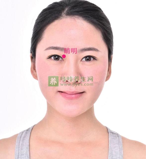 睛明穴的准确位置图,按摩睛明穴的作用及功效防近视