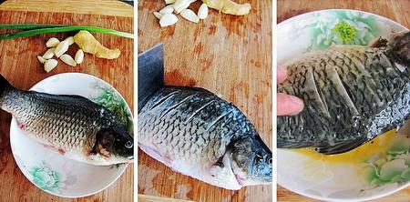 红烧鲫鱼步骤1-3