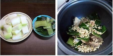 冬瓜薏米骨头汤的做法步骤3-4