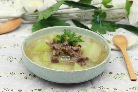 鸡胗滚冬瓜汤的做法