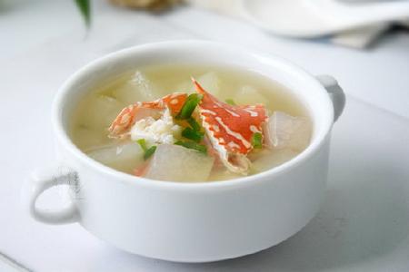 冬瓜花蟹汤的做法