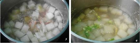 冬瓜花蟹汤的做法步骤5-6