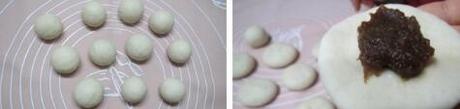 枣泥蘑菇包的做法步骤3-4