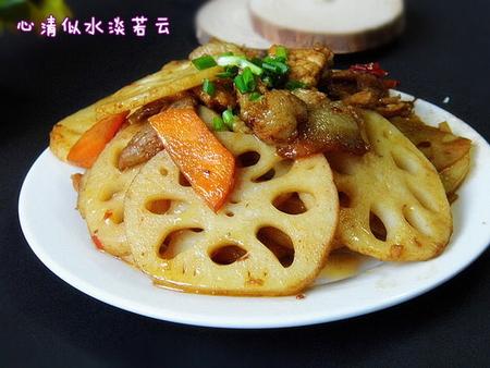 藕片回锅肉的做法