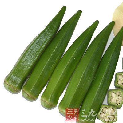 秋葵嫩荚含有丰富的果胶、膳食纤维,其果胶的粘稠状态是植物界非常少见的