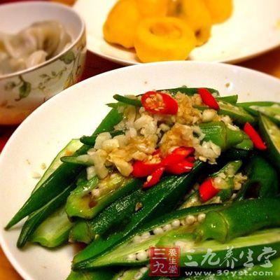 黄秋葵食用方法多样,既可凉拌,又可热炒、油炸,还可汤食
